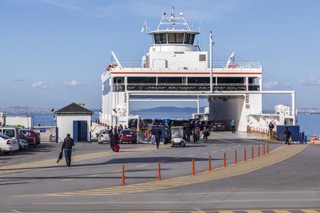 marmara: IDO ferry station and ferries carrying passengers from Yenikapi to many points thru Marmara Sea Editorial