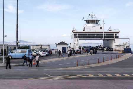 the marmara: IDO ferry station and ferries carrying passengers from Yenikapi to many points thru Marmara Sea Editorial