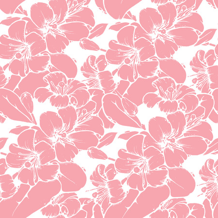 grand sale sticker: Shabby chic seamless pattern design with beautiful lemon or orange blossoms in cool color palette, vector repeating background for web and print purposes