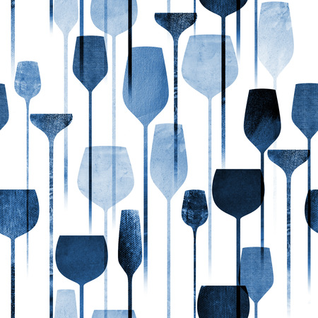 paper art: Textured paper collage art party drinks seamless pattern, conceptual colorful alchohol drinks repeating background for web and print purpose.
