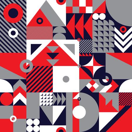 mosaïque géométrique contemporain seamless avec un schéma de couleur vibrante, répéter fond avec des formes riches et modernes, la conception de motif de surface pour le web et print