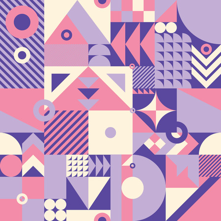 century: Contemporary geometric mosaic seamless pattern with a vibrant color scheme, repeat background with rich and modern shapes, surface pattern design for web and print