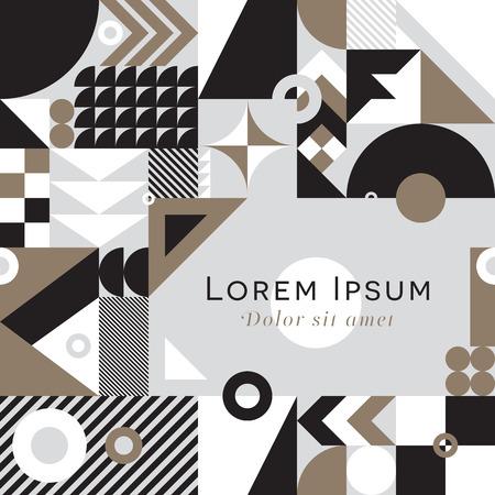 De eigentijdse geometrische mozaïekachtergrond met een trillend kleurenschema, herhaalt achtergrond met rijke en moderne vormen, het ontwerp van het oppervlaktepatroon voor Web en druk Stockfoto - 67248108