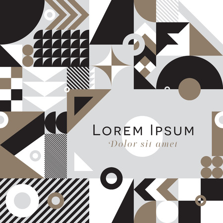 Contemporary geometric mosaic background with a vibrant color scheme, repeat background with rich and modern shapes, surface pattern design for web and print Illustration