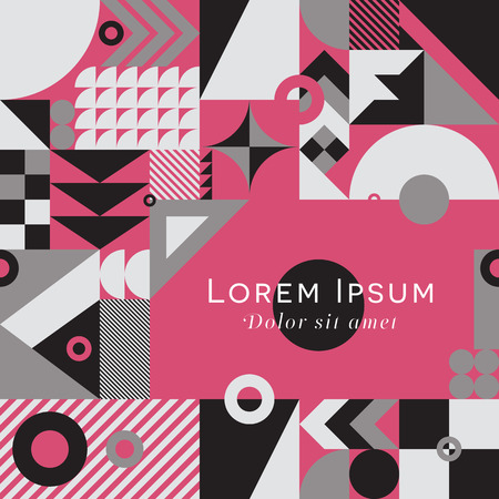 Contemporary geometric mosaic background with a vibrant color scheme, repeat background with rich and modern shapes, surface pattern design for web and print Vectores
