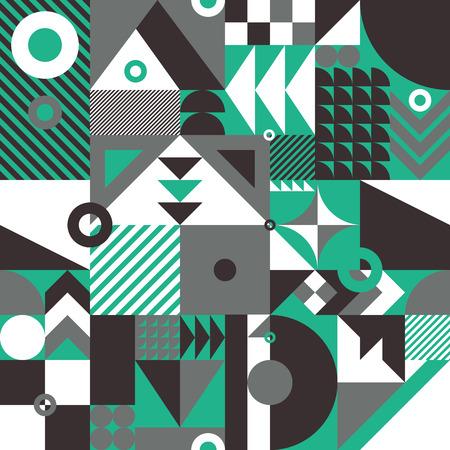 Eigentijdse geometrische mozaïek naadloze patroon met een levendige kleurenschema, herhalen achtergrond met rijke en moderne vormen, oppervlakte patroon ontwerp voor web en print