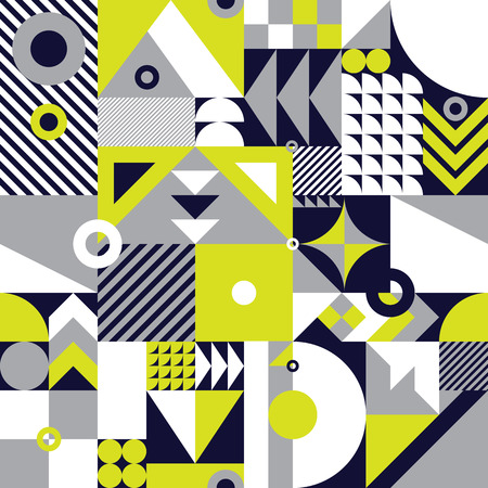 abstrakcja: Contemporary geometric mosaic seamless pattern with a vibrant color scheme, repeat background with rich and modern shapes, surface pattern design for web and print