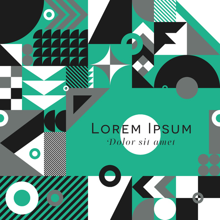 background color: Contemporary geometric mosaic background with a vibrant color scheme, repeat background with rich and modern shapes, surface pattern design for web and print Illustration
