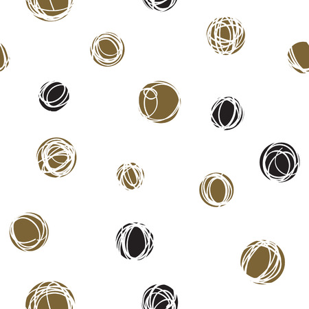 sloppy: Abstract seamless pattern design with sloppy circle drawings, random doodle dots repeat background