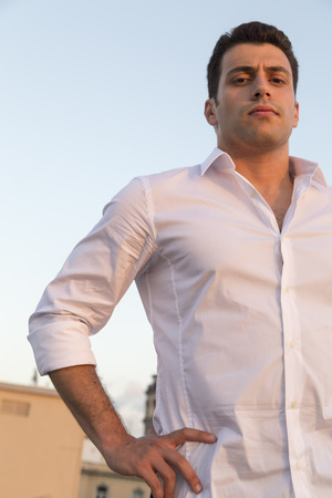 Young and attractive Turkish man outdoor portrait 版權商用圖片