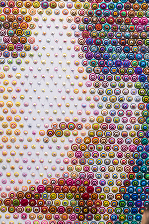Colorful circles pattern forming a female face detail Reklamní fotografie