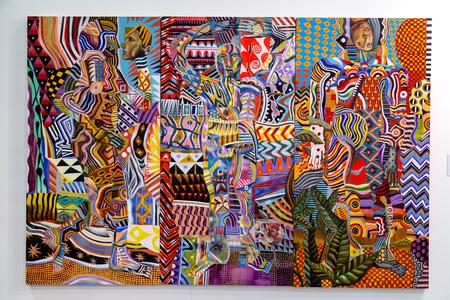 스톡 사진 - 이스탄불, 터키 - 2015년 11월 7일 11 월 7 일에 룻피 커더 컨벤션 센터, 이스탄불에서 개최 된 연례 현대 이스탄불 artshow의 11 판에서 예술의 조