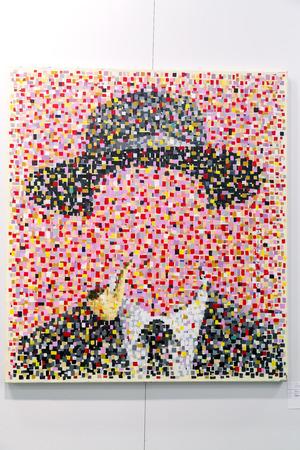 ストック フォト - イスタンブール, トルコ - 2015 年 11 月 7 日: 年次現代イスタンブール artshow 第 11 版で芸術作品はルトフィ キルダ コンベンション  報道画像