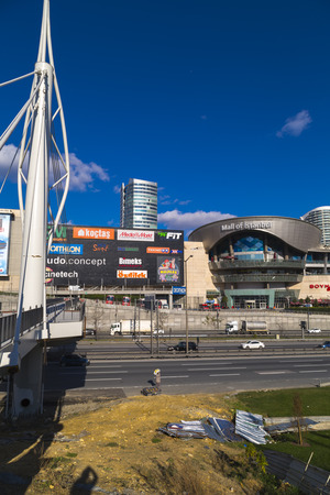 Istanbul, Turkey - December 5, 2016: Exterior view of Mall of Istanbul or MOI, Turkeys largest shopping mall and complex opened May 2014 in Basaksehir, Istanbul. Editorial