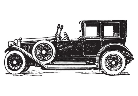 vintage limousine car Illustration