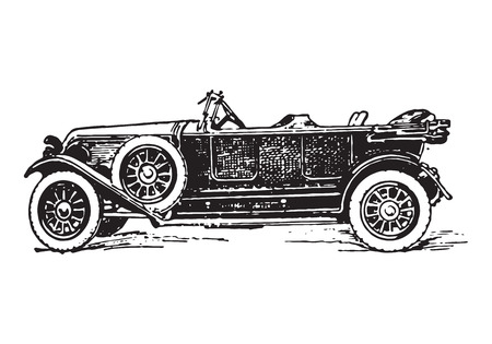 vintage torpedo car Illustration