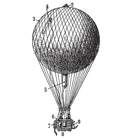 vintage air balloon Illustration