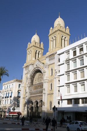 Cathedral of St. Vincent Paul in Avenue Habib Bourguiba, Tunis, Tunisia