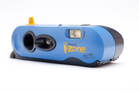 Istanbul, Turkey - March 9, 2017: The Polaroid i-Zone 200 was a type of instant film camera manufactured by the Polaroid Corporation. Editorial