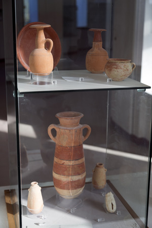 Ancient remains of Carthage civilization in the museum of Carthage, Tunis, Tunisia