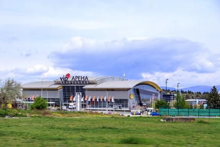 Skopje, Macedonia - April 7, 2017: Exterior view of VIP Arena, large stadium and events venue of Skopje, Macedonia.