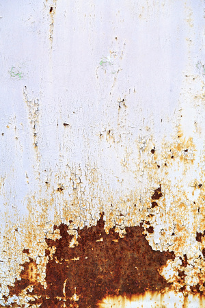 rusty: Rusty metal texture background with cracked white paint