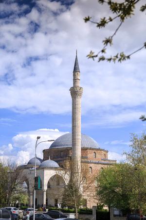 mustafa: Skopje, Macedonia - April 5, 2017: Mustafa Pasha Pasha Mosque, an old Ottoman Turkish mosque in the Bushi district of Skopje.