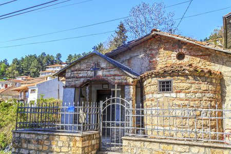 Exterior view of St. Barbara chapel next to the ancient theater in Ohrid, Macedonia Stock Photo