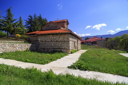 Ohrid, Macedonia - April 7, 2017: Exterior view of the Church SS. Constantine and Helena in Ohrid, Macedonia. Editorial