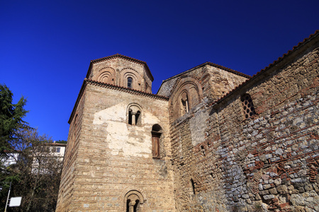 Exterior view of the Byzantium church of St. Sofia in Ohrid town, Macedonia.