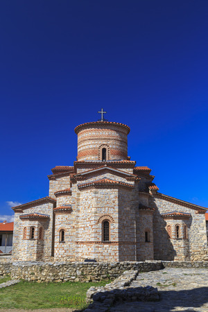 clement: Exterior view of St. Panteleimon in Ohrid, Macedonia.