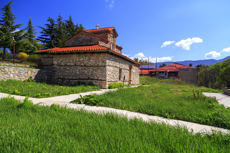 Exterior view of the Church SS. Constantine and Helena in Ohrid, Macedonia.