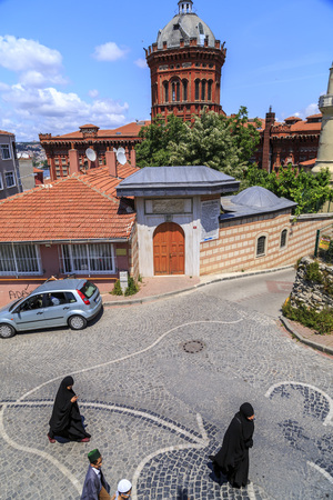 prestigious: Istanbul, Turkey - May 28, 2017: Exterior view of the Phanar Greek Orthodox Collage in Balat, the oldest surviving and most prestigious Greek Orthodox school in Istanbul.