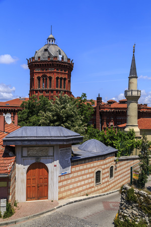 Istanbul, Turkey - May 28, 2017: Exterior view of the Phanar Greek Orthodox Collage in Balat, the oldest surviving and most prestigious Greek Orthodox school in Istanbul.