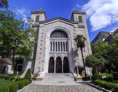 Istanbul, Turkey - May 14, 2017: Hagia Triada or Aya Triada Greek Orthodox Church in Kadikoy, Istanbul. Built by Patriarch Joachim III and Yermenos, Metropolitan of Kadikoy in 1902.