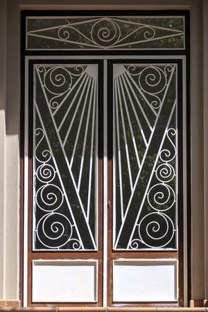 Gentil Beautiful Metal Ornate Art Deco Door, Architectural Detail Stock Photo    79284397