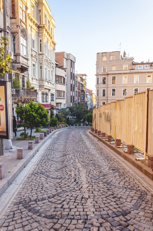 View from a up hill street in Beyoglu, Istanbul.