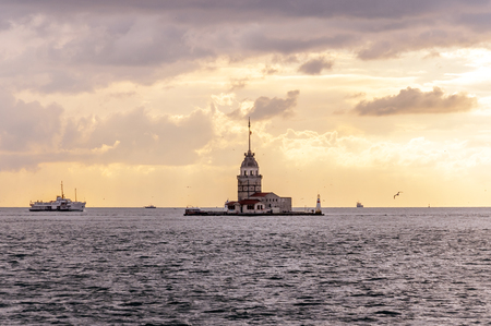 The Maidens Tower (Kiz Kulesi in Turkish), also known as Leanders Tower since is lying on a small islet at the southern entrance of the Bosphorus