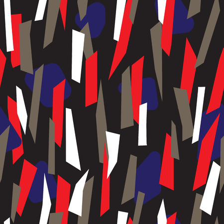 Modern seamless pattern design with colorful trapezoid stripes, simple and contemporary surface pattern, repeating background for web and print Illustration