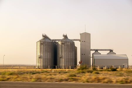 Agricultural silos in the central Anatolia, Turkey