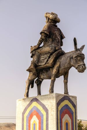 Monument of Nasreddin Hodja (Nasrettin Hoca) in Aksehir, Konya, Turkey