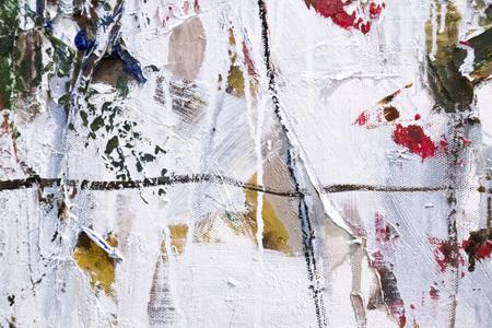 Frammento dipinto della tela, fondo di struttura del dettaglio della pittura di astrattismo con le pennellate