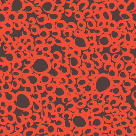 Random sloppy circles seamless pattern, repeat background Illustration