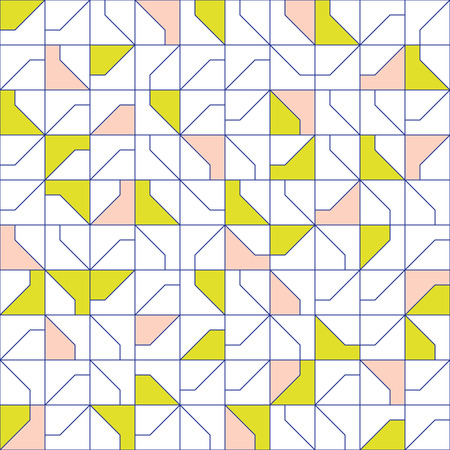 Abstract modernist style geometric tiles seamless pattern design, repeat background for web and print