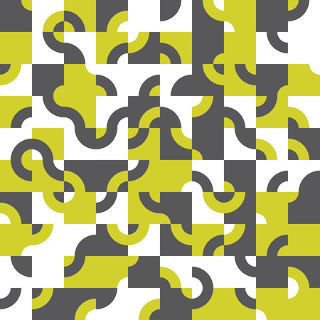 Abstract seamless pattern design with tiled circular shapes, creative repeat background for web and print  イラスト・ベクター素材