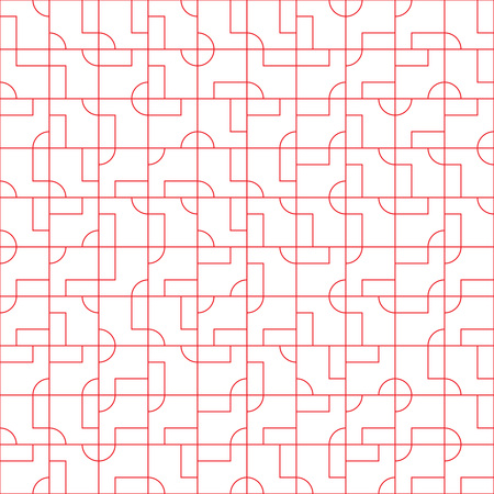 Abstract seamless pattern design with tiled geometric shapes, creative repeat background for web and print