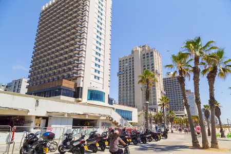 Tel Aviv-Yafo, Israel - June 6, 2018: Generic architecture and cityscape from Tel Aviv, Modern and old buildings in the central streets of Tel Aviv-Yafo, Israel. Editorial