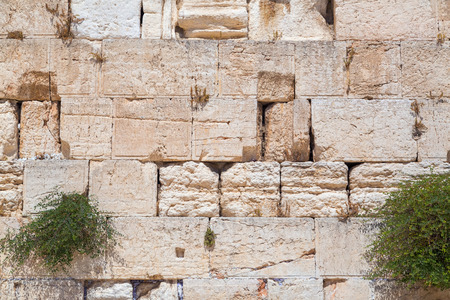 Texture detail from the Western Wall or the Wailing Wall in Jerusalem, Israel Stock Photo