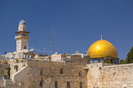 The Dome of the Rock and the Wailing Wall, Jerusalem, Israel