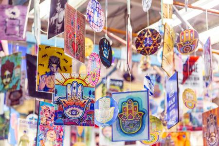 Decorative souvenirs sold at Carmel Market, Tel Aviv, Israel Sajtókép